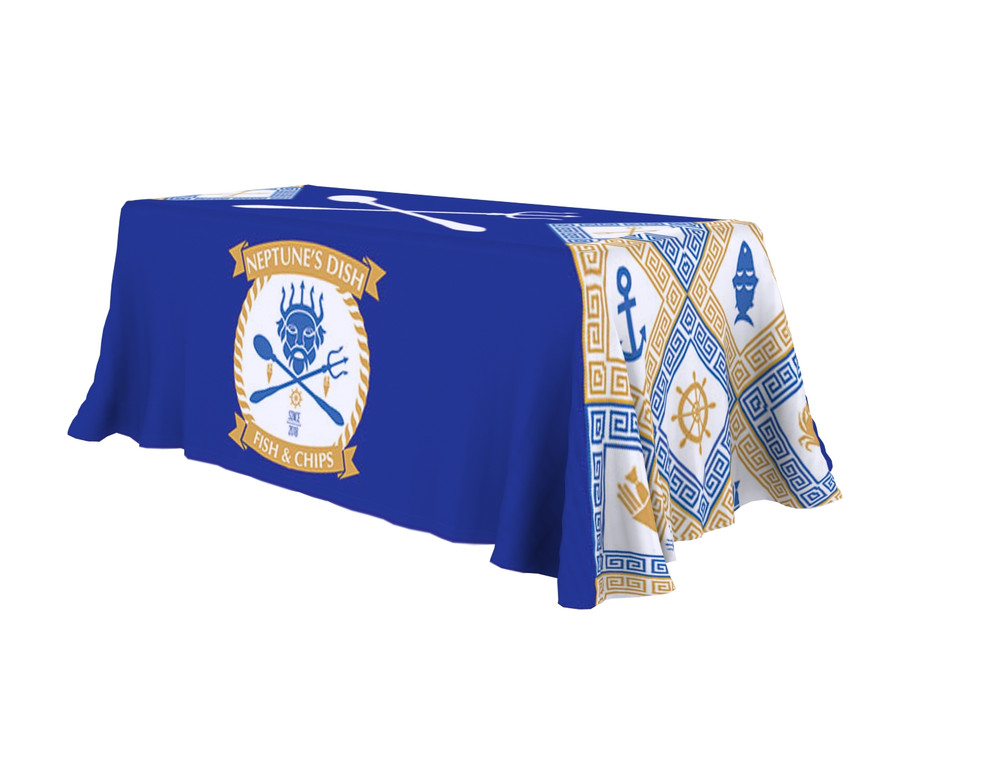 4 Sided Stretch Table Throw