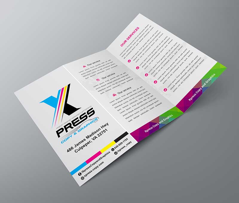 xpress copy graphics brochures printing services online custom