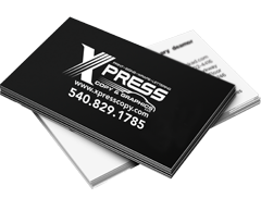 Business Cards: Black & White