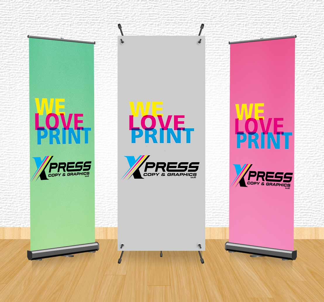 Banners: Pop-Up Stands