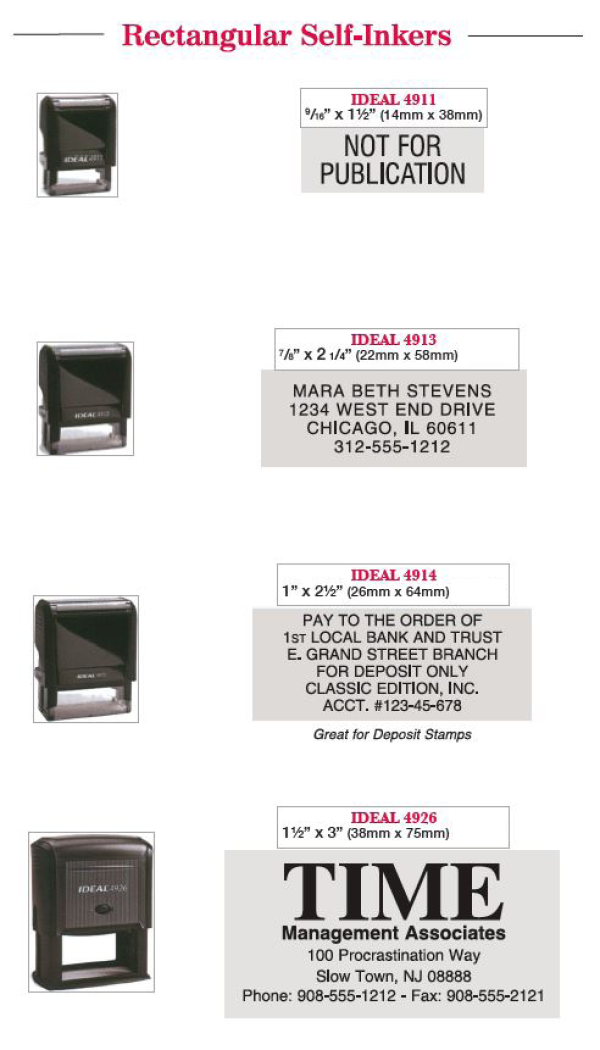 stamp options