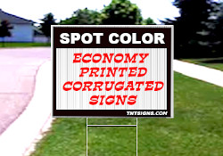 ECONOMY CORRUGATED SIGNS