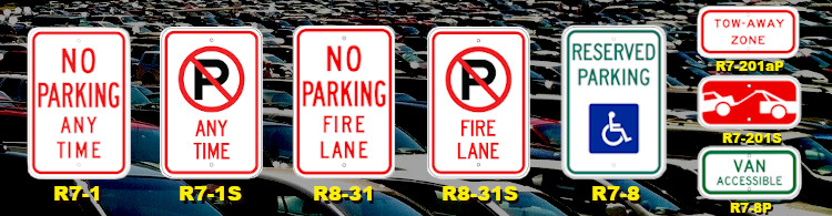 Image of no parking and handicap signs from TNT SIGNS!