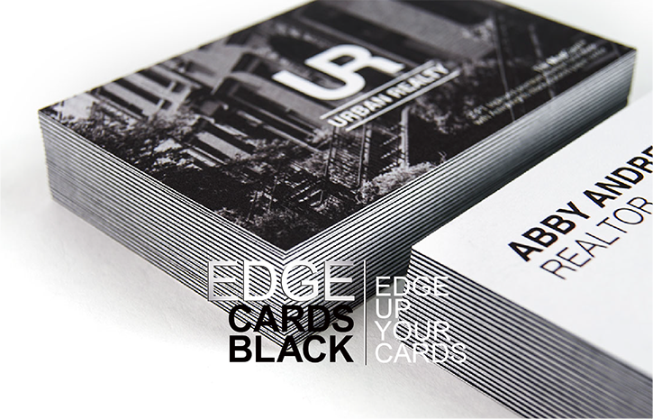 Edge black Business cards