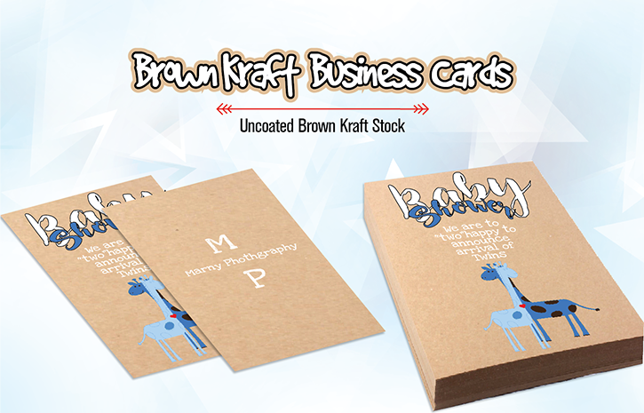 Recycled brown kraft postcards with white ink recycled brown kraft business cards paper reheart Choice Image
