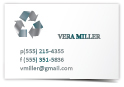 metalic business cards