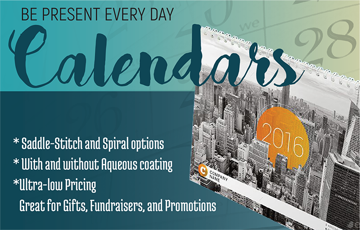 calendars- SPIRO BINDING