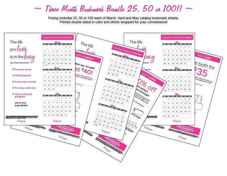 thirty one catalog bookmarks Mar-May 2019