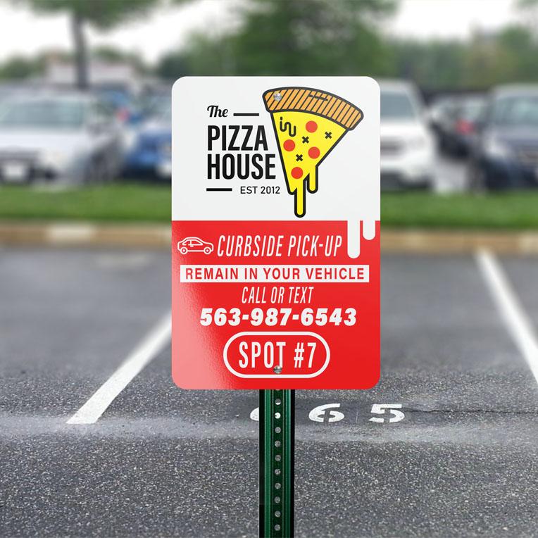 Aluminum Parking lot Signs