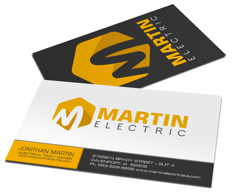 Custom printed business cards - Davenport, Iowa