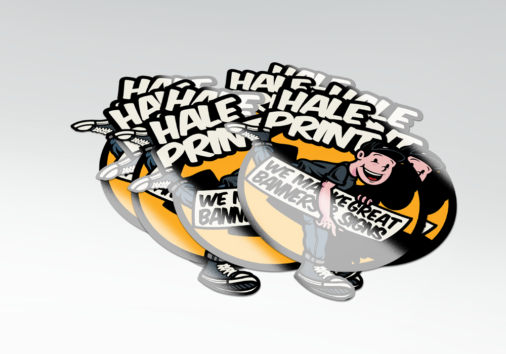 Full color stickers & labels custom printed with your logo or artwork