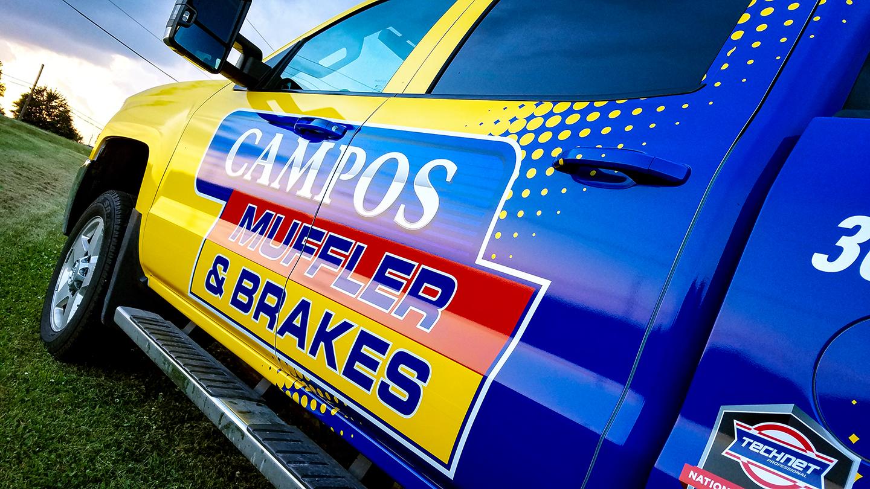 Truck Wrap Campos Muffler - Rock Island, IL