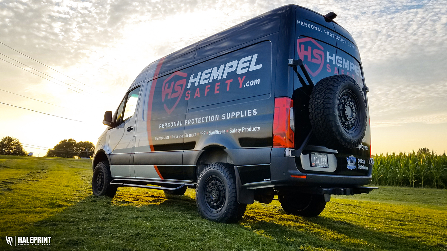 Sprinter Van Wrap Hempel Safety Bettendorf, IA