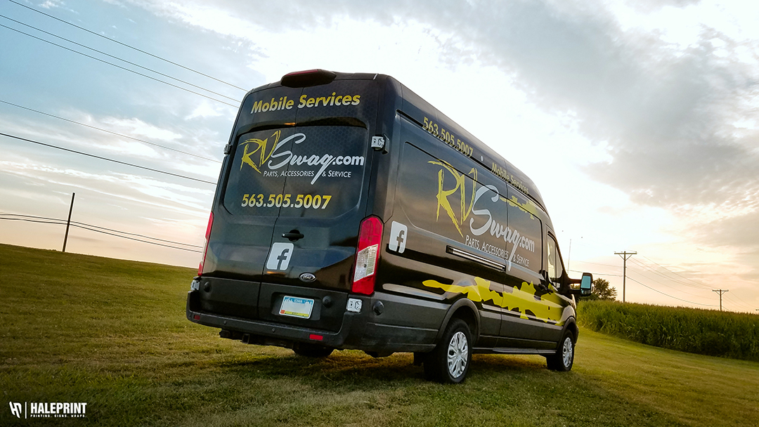 Delivery Van Wrap - RV Swag Davenport, Iowa