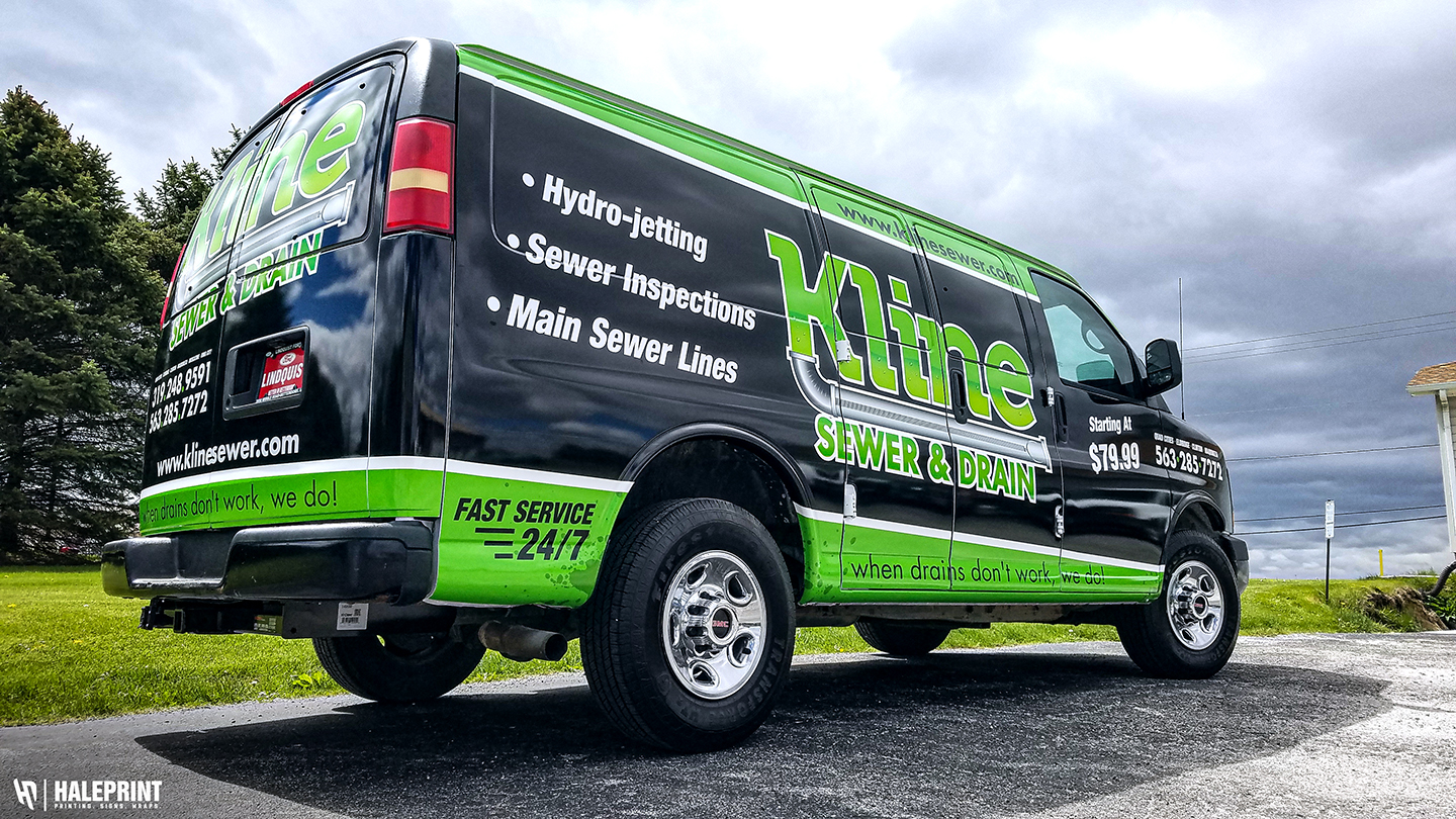 Van Wrap - Kline Sewer Eldridge,IA