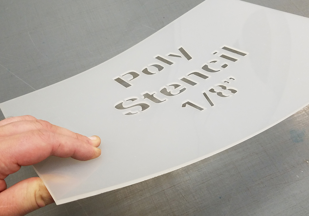 1/8 thick stencils - The most durable choice