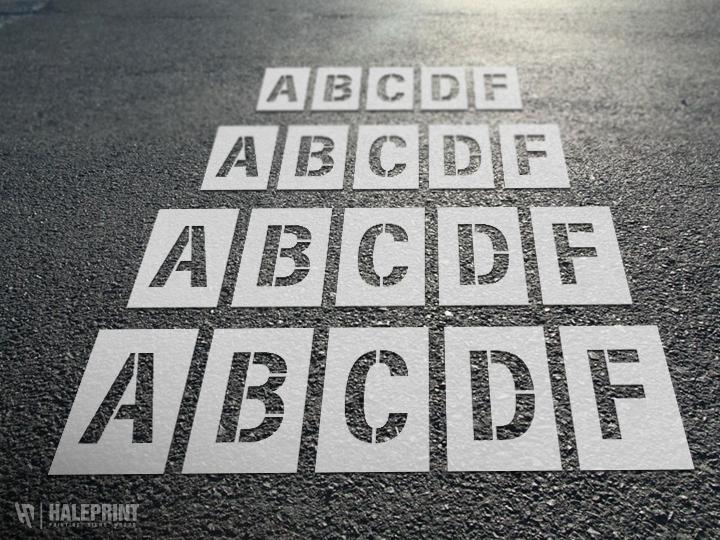 Individual Letter Stencil set