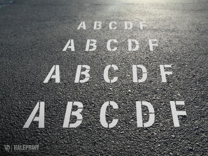 reusable letter stencils