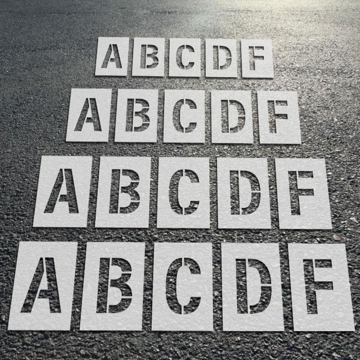 Individual Letter Stencils - 28pcs Set