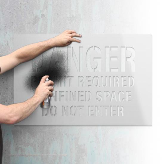 Custom Cut Text Stencils