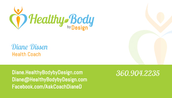 Diane Healthy Body By Design Card