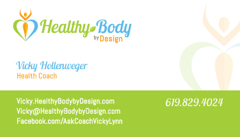 Vicky Healthy Body By Design Card