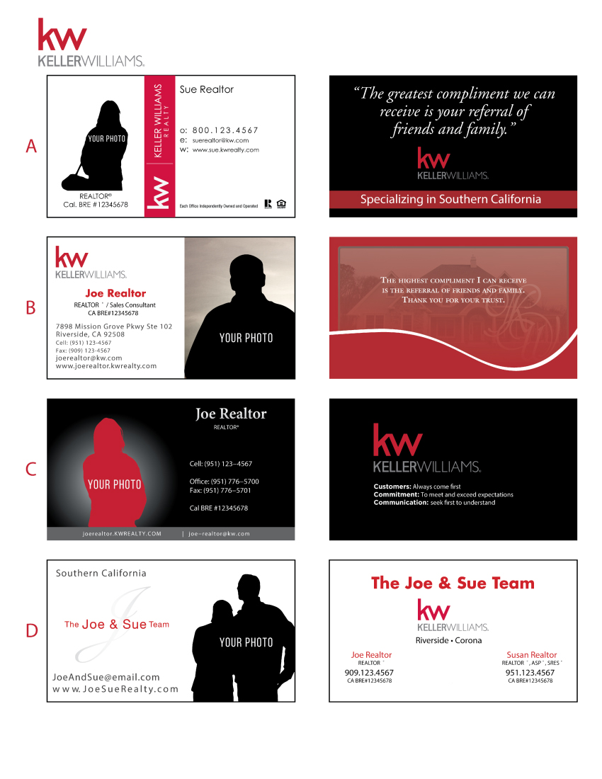 Printing connection keller williams business cards keller williams business card templates friedricerecipe
