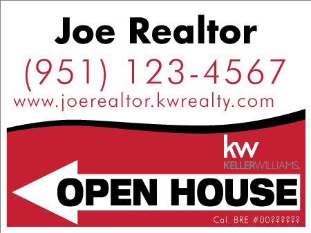 Keller Williams Open House Sign