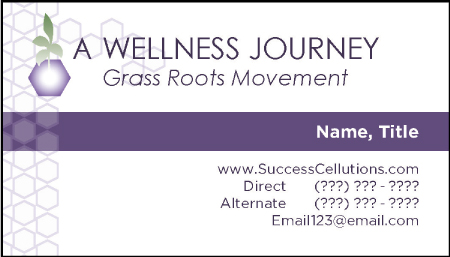 A Wellness Journey Business Cards