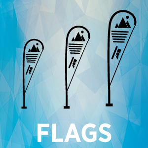 Teardrop Flag Thumbnail with text