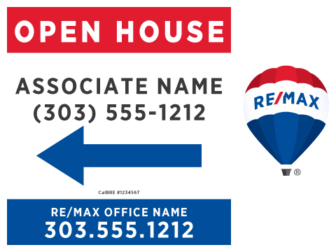 Printing Connection · RE/MAX Open House Signs