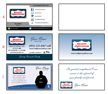 Realty Executives Business Card Templates