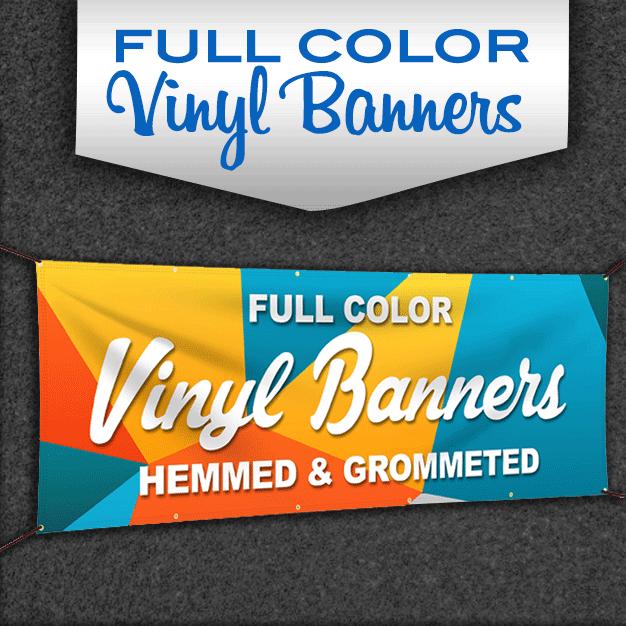 FREE GROMMETS Free Graphic Design 13oz Vinyl 4/' x 8/' Full-Color Custom Banner