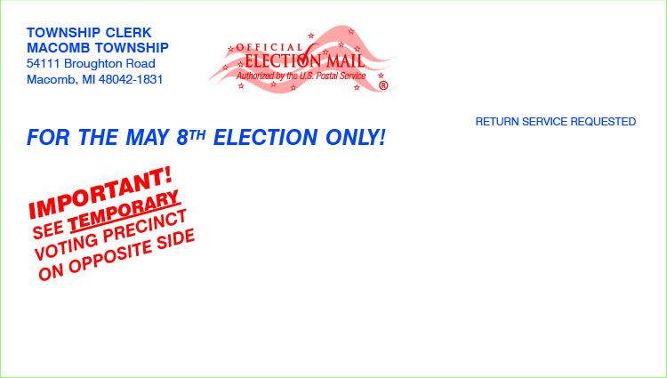Postcards - Temporary Polling Place - 7 1/2 x 4 1/4