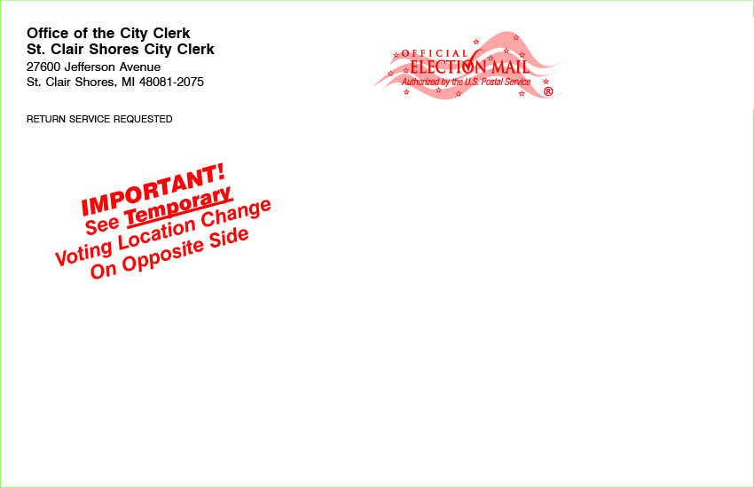 Postcards - Temporary Polling Location 8 1/2 x 5 1/2