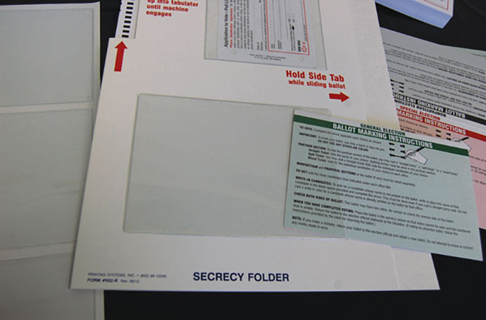 452 Pouches for Ballot Instruction Sheets (24/Pkg.)