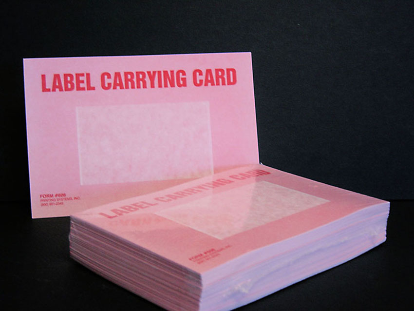608 Poll Book Label Carrier for Voter Name Labels