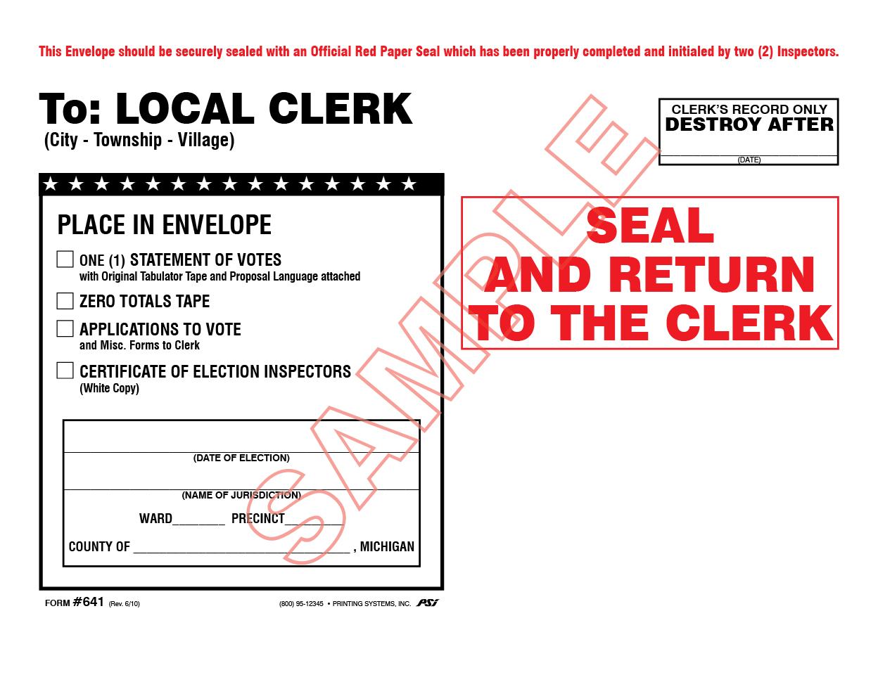 641 White Local Clerk (7/16)