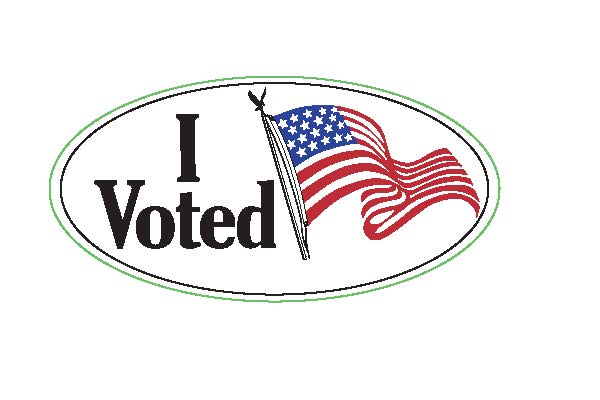 801 - I Voted Sticker (Flag)