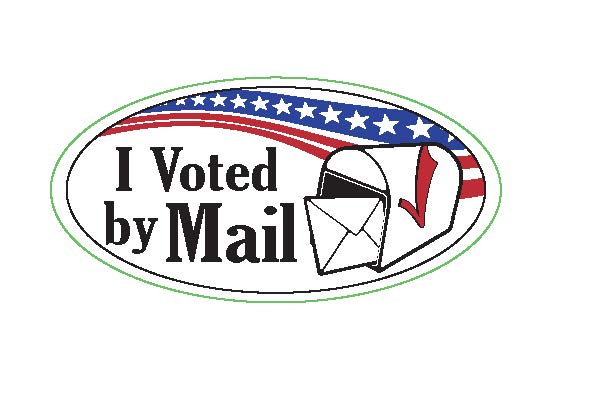 802 (I Voted by Mail Sticker)