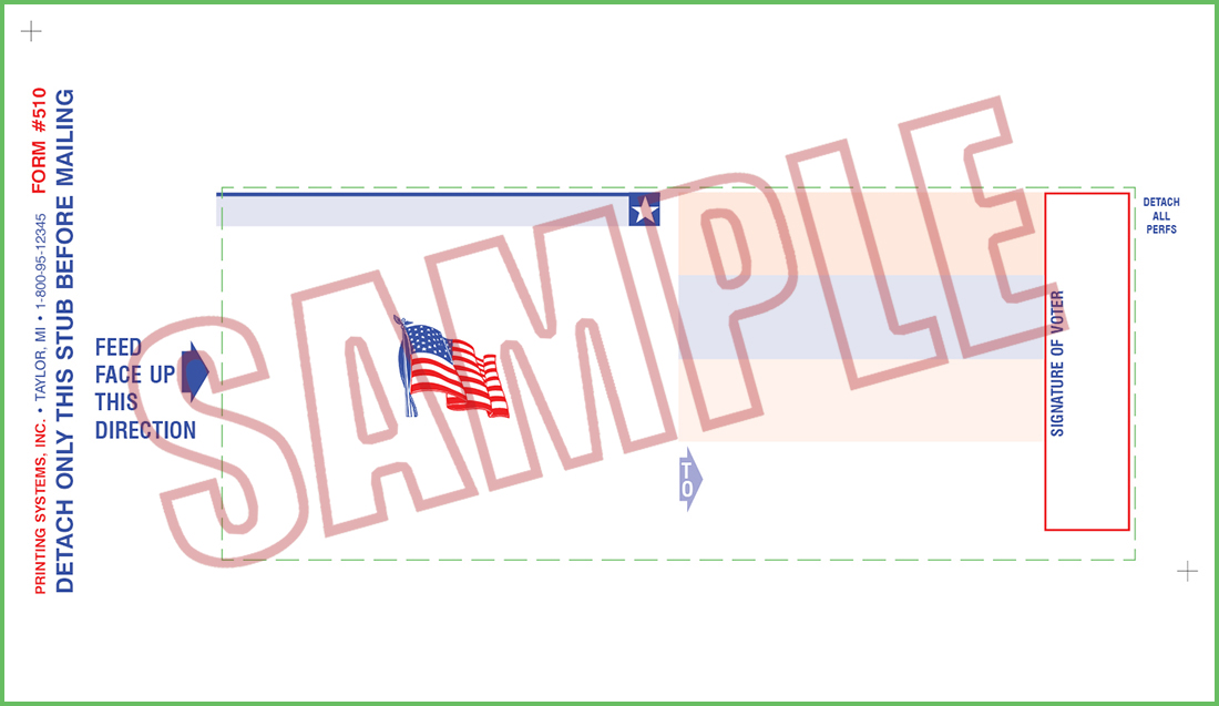 510 Voter ID Cards (QVF) - Stock w/Flag