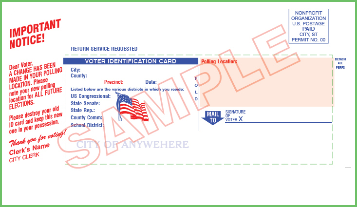 Voter ID Card (QVF) Custom Verbiage  - Custom (No Mailing)