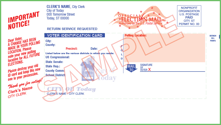 Voter ID Card  - Non Profit - Custom (With Mailing)