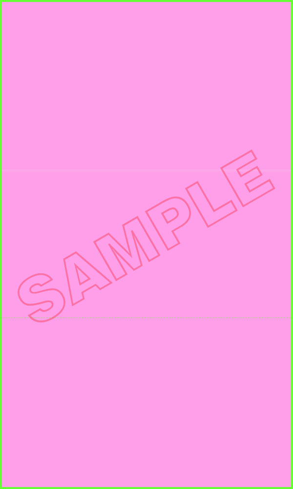 860 Blank - Cancellation Notice - 6 x 10 1/2 - Pink