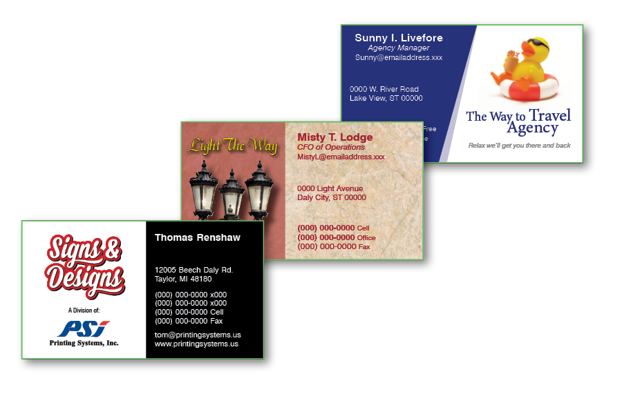 Printing Systems · Standard Business Card - Non Gloss (3.5x2)