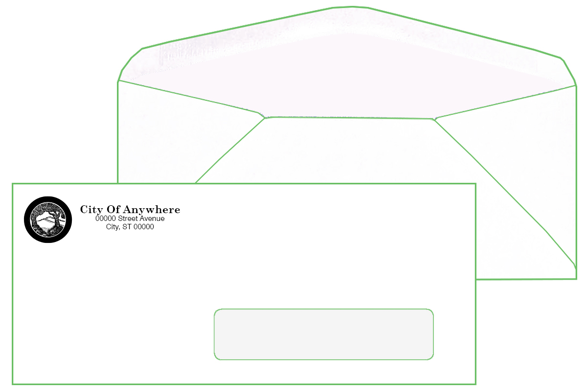 #10 Window Envelope (Window on Right Side)