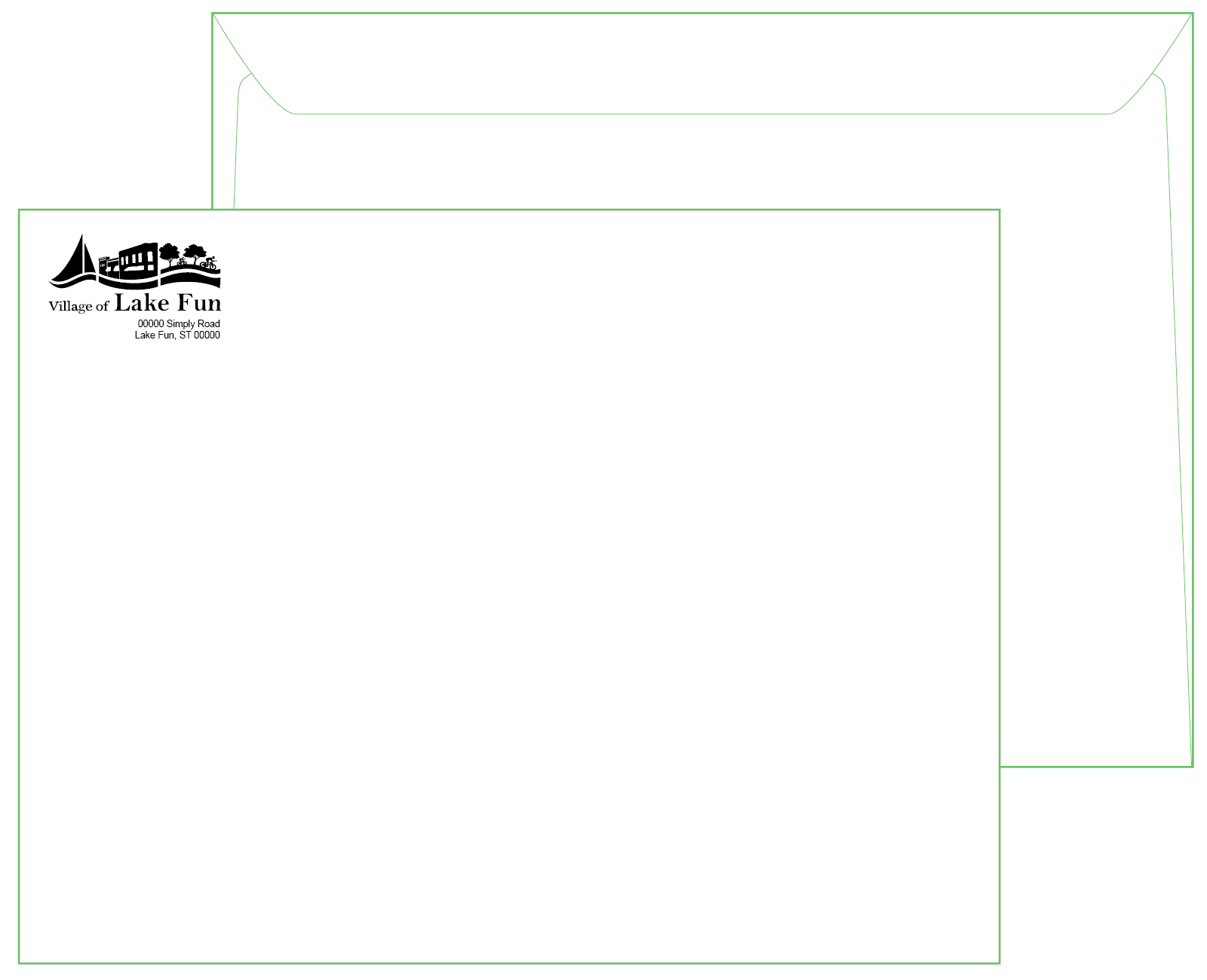 10 x 13 White Booklet Envelope