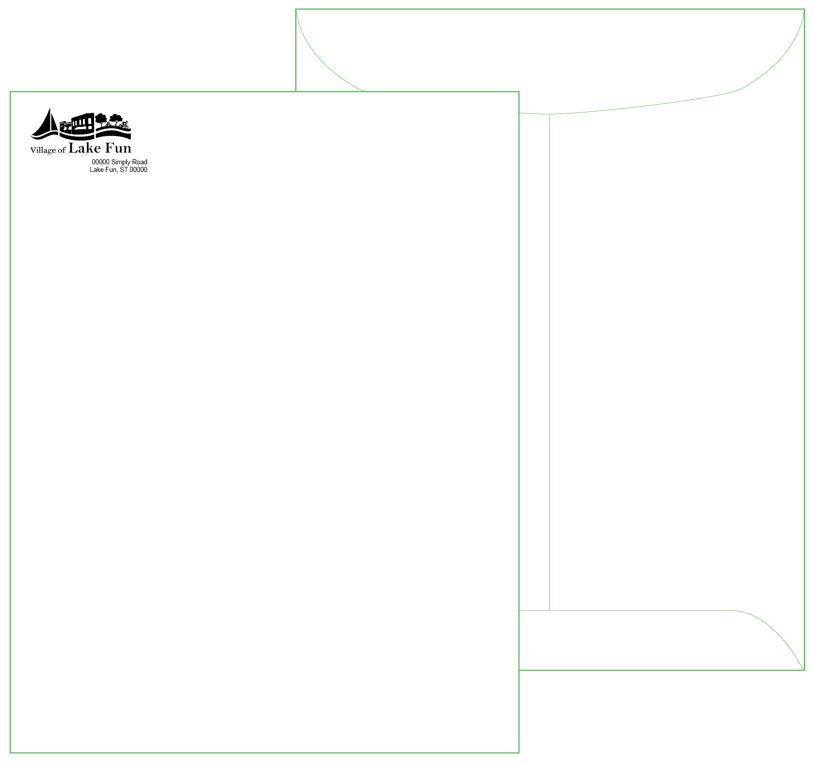 10 x 13 White Catalog Envelope