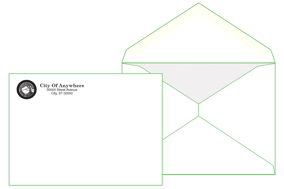 #6 Baronial Envelope  ( 4 3/4 x 6 1/2) Pointed Flap