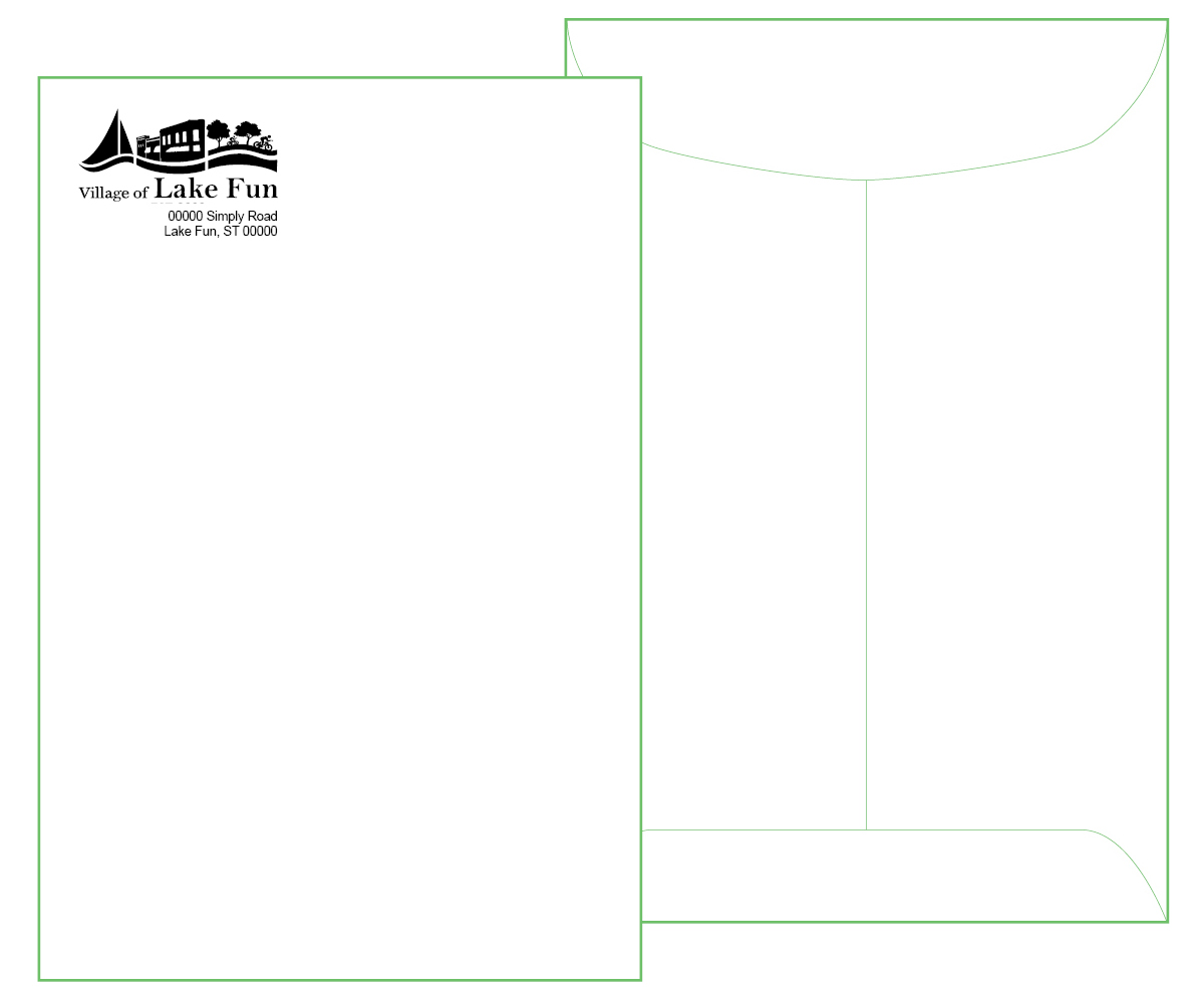 6 x 9 White Catalog Envelope